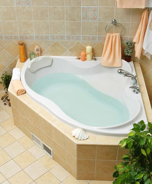 Акриловые ванны в интерьере фото
